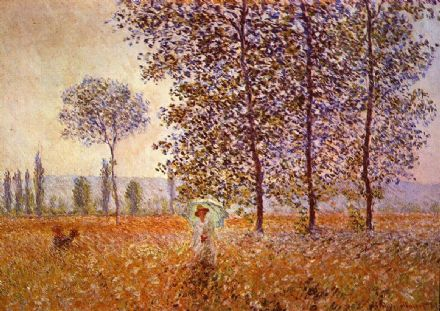 Monet, Claude: Poplars in the Sunlight. Fine Art Print/Poster. Sizes: A4/A3/A2/A1 (00771)